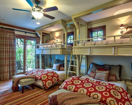 These adult bunk beds allow so much room for activities.