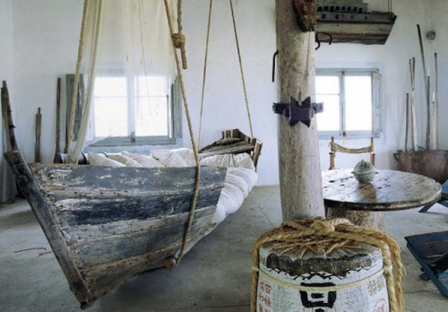 Pirate themed bed for adults.
