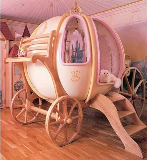 Disney princess themed bed.
