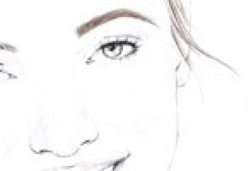 STEP 5 Now, use your Brow & Eyemakers Pencil with very light, feathery strokes to fill in gaps along the entire brown line.