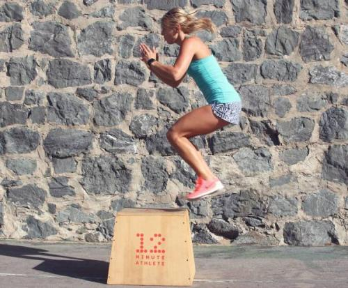 Box jumps build power, speed, and agility.
