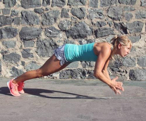 Use plyo push ups to build upper body strength and power.