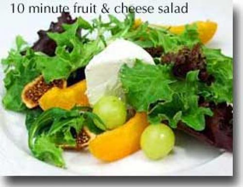 10-Minute Fruit & Cheese Salad