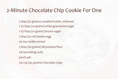 2-minute-chocolate-chip-cookie-for-one-ingredients