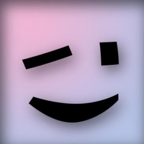 image of winking face